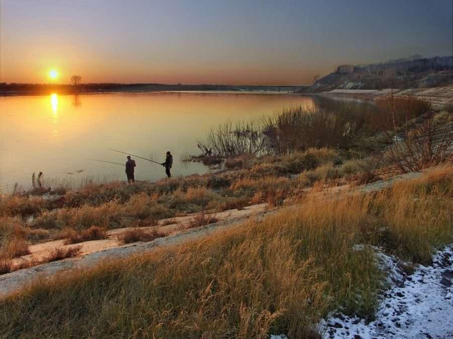 Рыбалка на Десне в ноябре